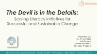 The Devil is in the Details: Scaling Literacy Initiatives for Successful and Sustainable Change