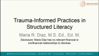 Trauma-Informed Practices in Structured Literacy