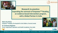 Research to Practice: Expanding the Outreach of Empower Reading, an Evidence-Based Intervention Program, With a Global Partner in India