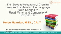 Beyond Vocabulary: Creating Lessons That Will Develop the Language Skills Needed to Read, Write, and Comprehend Complex Text