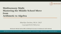 Multisensory Math: Mastering the Middle School Move From Arithmetic to Algebra