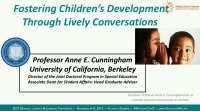 Fostering Childrens Language Development Through Lively Conversations With Text