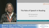 The Role of Speech in Reading