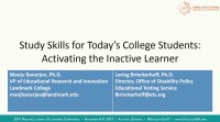 Study Skills for Todays College Students: Activating the Inactive Learner