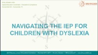 Navigating the IEP for Children With Dyslexia