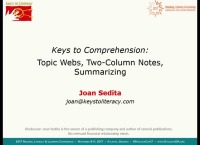 Topic Webs, Two-Column Notes, and Summarizing: Keys to Comprehension
