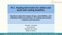 Reading Intervention for Children and Youth With Reading Disabilities...