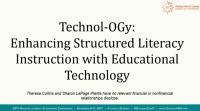 Technol-OGy: EdTech to Enhance Structured-Literacy Instruction