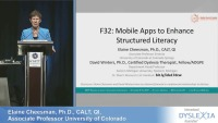 Mobile Apps to Enhance Structured Literacy