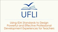 Using IDA Standards to Design Powerful and Effective Professional-Development Experiences for Teachers
