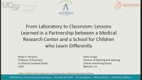 From Laboratory to Classroom: Lessons Learned in a Partnership Between a Medical Research Center and a School for Children Who Learn Differently