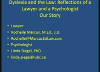 The Law and Dyslexia: Reflections of a Psychologist and a Lawyer