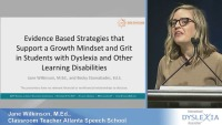 Evidence-Based Strategies that Support a Growth Mindset and Grit in Students With Dyslexia and Other Learning Disabilities