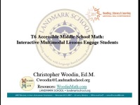 Accessible Middle School Math: Interactive Multimodal Lessons Engage Students