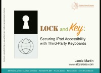 Lock and Key: Securing iPad Accessibility With Third-Party Keyboards