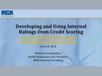 Developing and Using Internal Ratings – an Important Tool for Evaluating the Credit Health of Your Counterparties