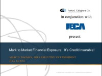 Mark-to-Market Credit Exposures: Now A Credit Insurable Risk