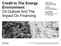 Credit in the Energy Environment: Oil Price Outlook and the Impact on Financing