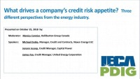 What drives a company's credit risk appetite? Three perspectives from the energy industry.