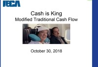 Cash is King!  A modified approach to traditional cash flow analysis