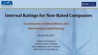 Internal Rating for Non-Rated Counterparties
