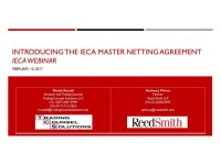 Introducing the IECA Master Netting Agreement