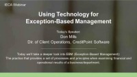 CreditPoint Software Sponsored Webinar: Using Technology for Exception-Based Management