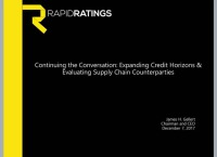 Continuing the Conversation: Expanding Credit Horizons & Evaluating Supply Chain Counterparties