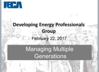 Managing Multiple Generations - Presented by the Developing Energy Professionals Group (DEPG)