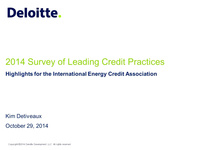2014 Leading Practices Survey Results