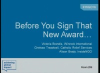 Before You Sign That New Award