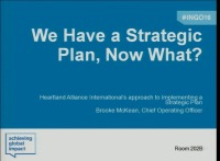 We Have a Strategic Plan, Now What?