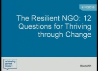 The Resilient NGO: 12 Questions for Thriving through Change
