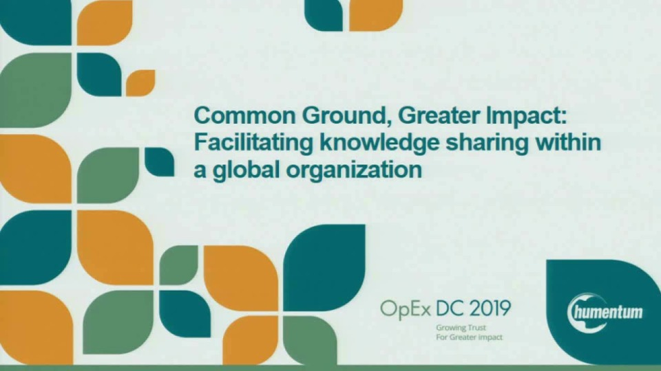 Common Ground, Greater Impact: Facilitating Knowledge Sharing within a Global Organization