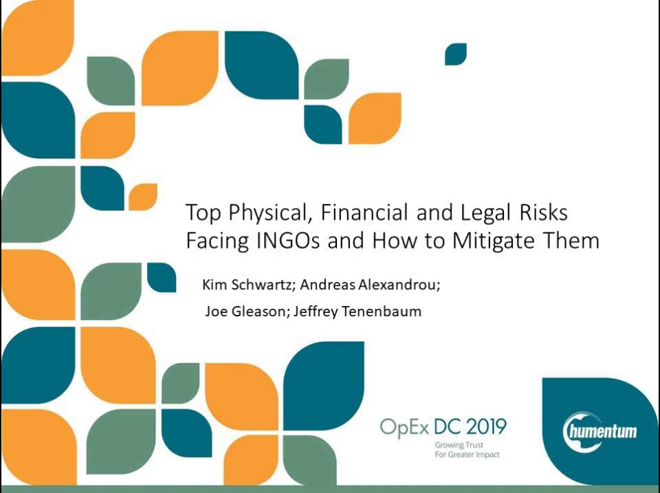 Top Physical, Financial and Legal Risks Facing INGOs and How to Mitigate Them