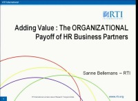 Adding Value: The Organizational Payoff of HR Business Partners