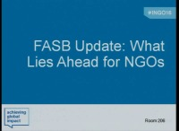 FASB Update: What Lies Ahead for NGOs