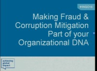 Making Fraud and Corruption Mitigation Part of Your Organizational DNA