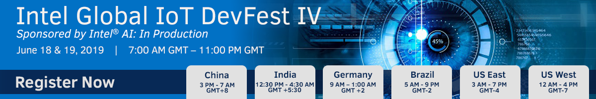 Intel Global IoT DevFest IV