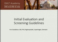 CORE COMPETENCIES IN HFTX -- SESSION 2: Initial Evaluation and Screening Guidelines
