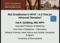 CORE COMPETENCIES IN HFTX -- SESSION 2: Risk Stratification in HFrEF - Is it Time for Advanced Therapies?