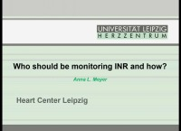 PRE-MEETING SYMPOSIUM 01: Anticoagulation and MCS: Can We Do Better? -- Who Should Be Monitoring INR and How?