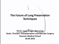 PRE-MEETING SYMPOSIUM 03: Current Innovations and Future of EVLP -- The Future of Lung Preservation Techniques