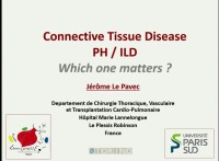 PRE-MEETING SYMPOSIUM 04: Under Pressure: Pulmonary Hypertension in Parenchymal Lung Disease -- Connective Tissue Disease PH-ILD: Which One Matters?