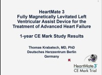 2016: Opening Plenary Session: Transplantation: Where Does the Science End and the Art Begin? -- HeartMate 3 Fully Magnetically Levitated Left Ventricular Assist Device for the Treatment of Advanced Heart Failure -1 Year Results from the CE Mark Trial