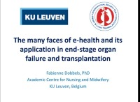 The Many Faces of E-Health and its Application in End-Stage Organ Failure and Transplantation