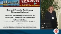 SESSION 2: DIAGNOSING INFECTION IN CT TX AND TREATMENT CONSIDERATIONS