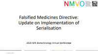 Falsified Medicines Directive - Update on Implementation of Serialisation
