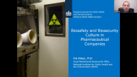 Biosafety and Biosecurity Culture in Pharmaceutical Companies