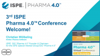 Welcome to 2020 ISPE Pharma 4.0 Virtual Conference